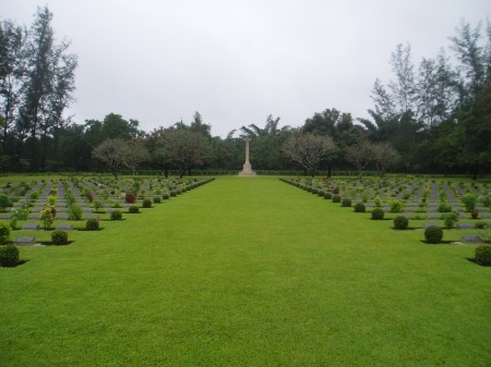 Percy Adams, ZSL Whipsnade keeper who died as a Japanese POW is buried here at THANBYUZAYAT WAR CEMETERY, Image: www.cwgc.org