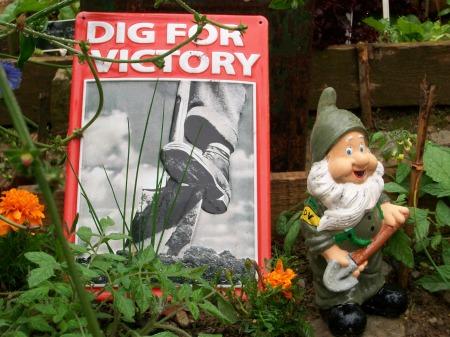 Gnome guard wartime garden 015