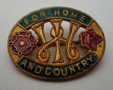 Canny recyclers before their time! The WI did important work for the Dig For Victory and salvage campaigns. This wartime WI badge is from our wartime display, World War Zoo Gardens, Newquay Zoo.