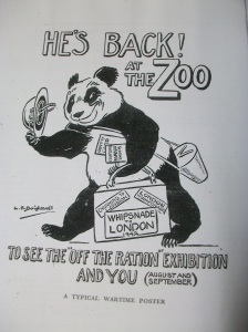 LR Brightwell's wartime panda poster for London Zoo 1942