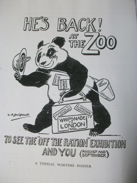 LR Brightwell's wartime panda poster London Zoo 1942