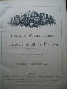 The Garden 1917, edited by Herbert Cowley.