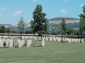 C.G.Lasts's burial place lies amongst the graves of Assisi War cemetery, Italy (image CWGC copyright www.cwgc.org)