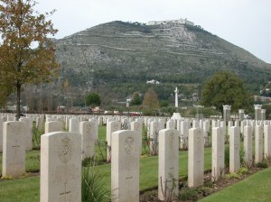 J.G. Mayne's burial place, Cassino War Cemetery,  Monte Cassino, Italy (image copyright: CWGC www.cwcg.org)
