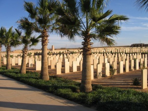 Eric Smith's desert burial ground Knightsbridge War Cemetery, Acroma, Libya (Image copyright: CWGC website www.cwgc.org)