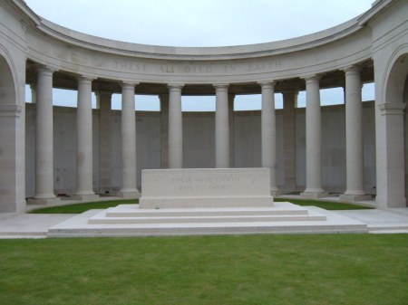 George Douglas is remembered on the Cambrai Louverval Memorial (Image: CWGC website)