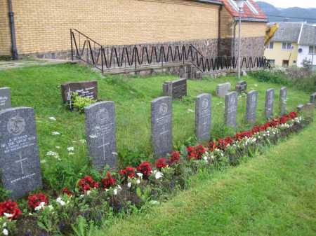 Jackson's grave is third from left, front row. Farsund Cemetery, Norway. Source: CWGC