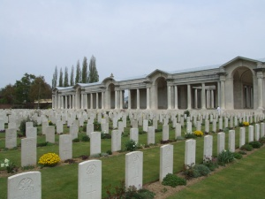 Faubourg Cemetery and the Arras Memorial. Image copyright CWGC website