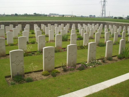 Vietch is buried in Thiennes Cemetery. (Image: CWGC website)