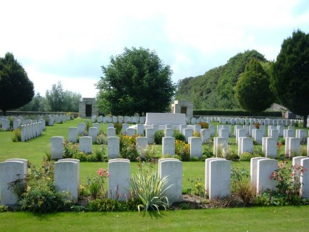 An unlucky POW, Duley  lies amongst graves in this Tournai cemetery in Belgium. (Image: CWGC website)