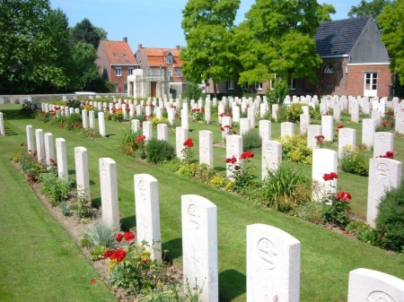 Vlamertinghe New Military Cemetery,  Belgium (Image: CWGC website).