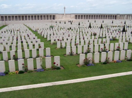 Geoffrey Watkins Smith is buried in Pozieres British Cemetery. (Image: www.cwgc.org.uk)
