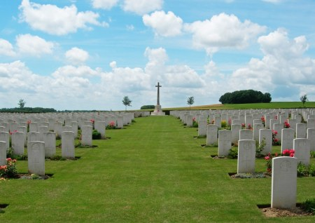 Woodhouse is buried at Tincourt New British Cemetery.