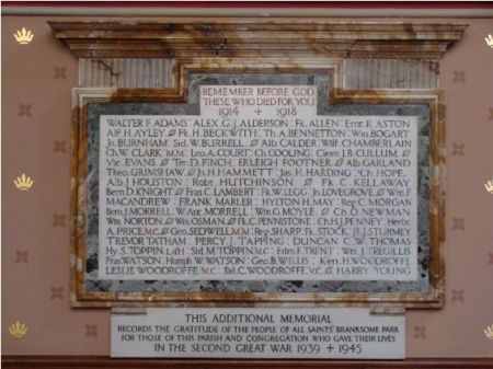 Branksome Park Roll of Honour. Source:  http://www.opcdorset.org/BranksomeParkFiles/BranksomeParkRollofHonour.htm
