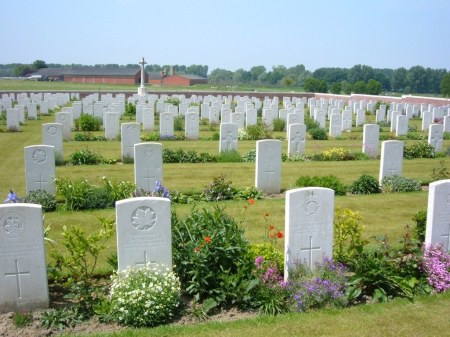 Mulroy's grave lies among these at Ridge Wood Military Cemetery, Ypres, Belgium. Image: cwgc.org