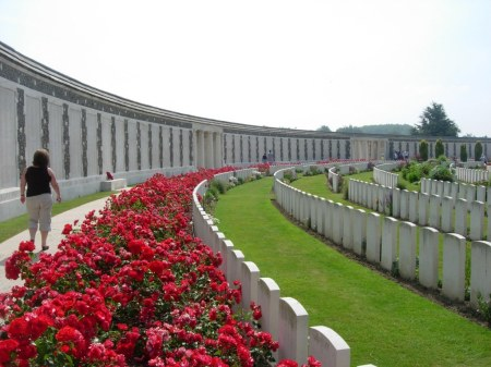 Sergeant Oliver is listed amongst the 35,000 names on the Tyne Cot memorial to the missing. Image: cwgc.org