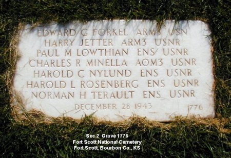 The crew's Fort Scott Cemetery memorial stone from the Find a Grave website.