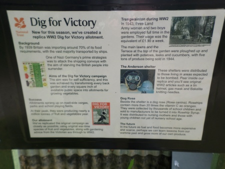 Project signage, Dig for Victory Wartime garden, Trengwainton, NT, May 2014. Image: Mark Norris, WWZG.