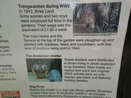 A bit of Trengwainton's history on its wartime garden signage, Cornwall, May 2014. Image: Mark Norris, WWZG.