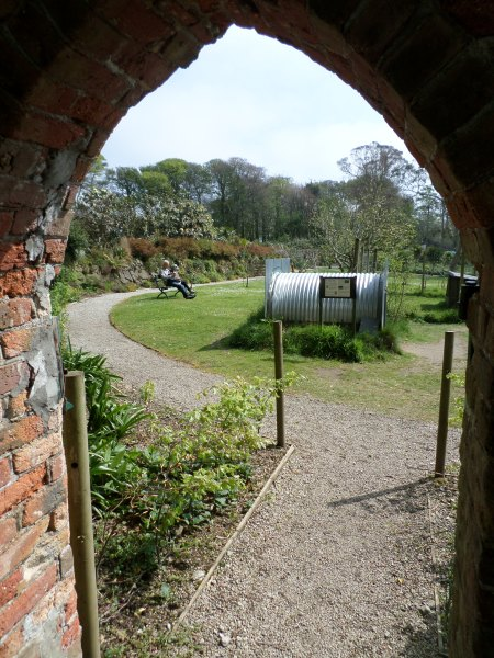 The entry in the walled garden through to Trengwainton's wartime garden in the orchard May 2014 Image: Mark Norris, WWZG