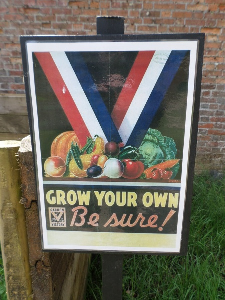 Wartime poster, Trengwainton NT, Cornwall May 2014 Image: Mark Norris, WWZG.