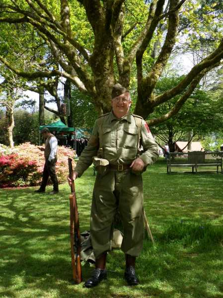 Home Guard re-enactor, Trengwainton 2014. Image - WWZG