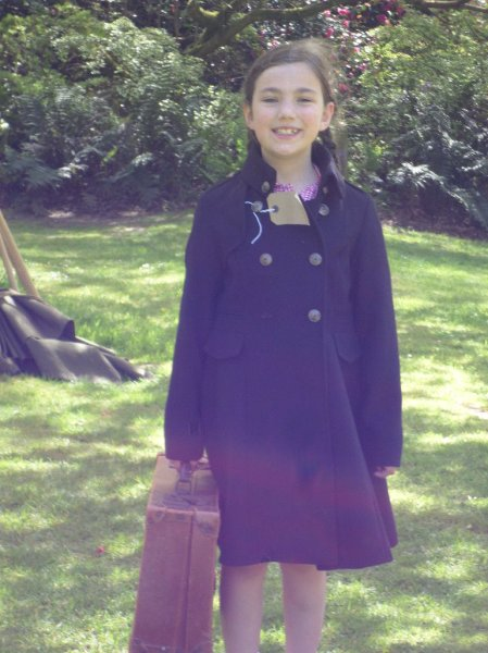 A happy evacuee! Trengwainton 1940s day, 2014.