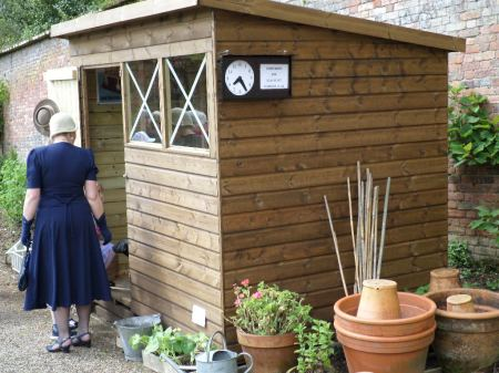 The Trengwainton wartime garden Potting Shed open for  display, 2014. Image - WWZG.
