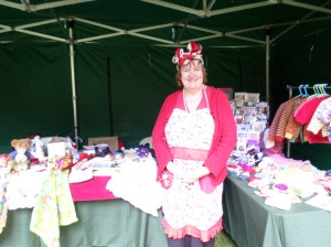 A knit and natter and vintage crafts in costume, Trengwainton 2014. Image - WWZG.