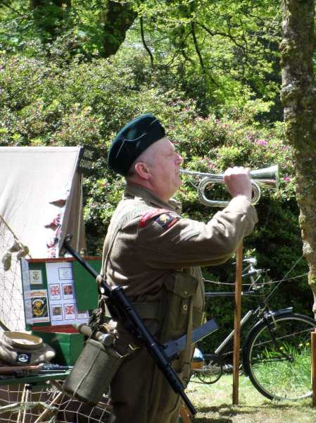 Re-enactor's wake up call! Trengwainton, 2014. Image - WWZG
