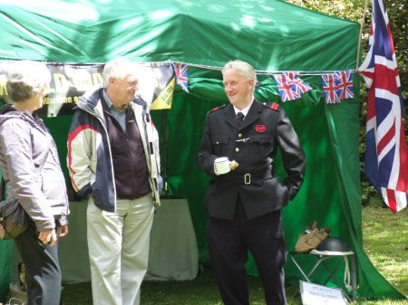 Time for a cup of tea and a chat,  outside our wartime garden exhibition.  Trengwainton 2014. Image - WWZG.