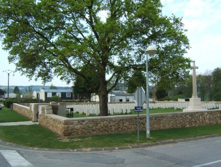 Jonchery sur Vesle cemetery, France a post war concentration cemetery where Holton lies buried. Image CWGC website
