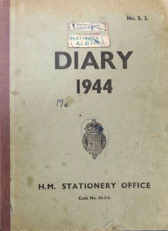 Front cover of Bernie Walker's curious 1944 diary. Image: Mark Norris, WWZG