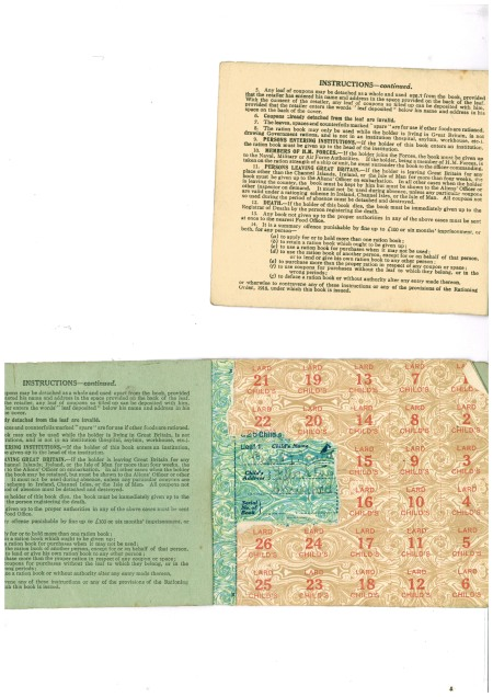 Inside a ww1 ration book
