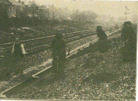 Allotments on the railway side, South West, WW1 (unnamed magazine photo in author's collection)
