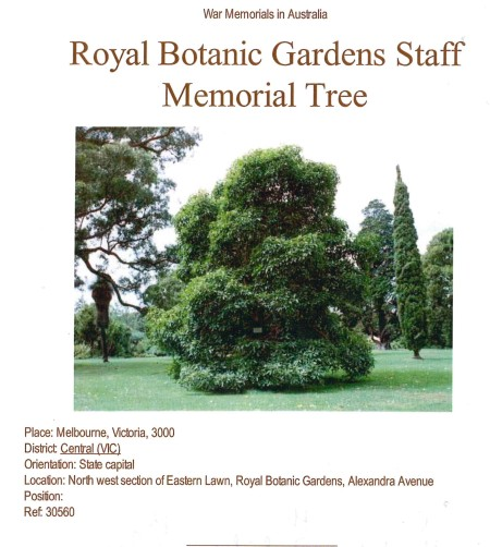 The original photograph and now vanished 1996 web page for the Royal Botanic Gardens, Melbourne.