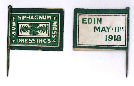 Sphagnum Moss Gathering Edinburgh May 11th 1918  Charity flag fundraiser (Image Source: c/o World war Zoo Gardens Collection, Newquay Zoo)
