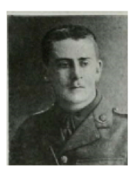 Duncan Hepburn Gotch in uniform 1914/5 (source: www.baptist.org WW1 article)