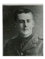 Duncan Hepburn Gotch in uniform 1914/5 (source: www.baptist.org WW1 article)