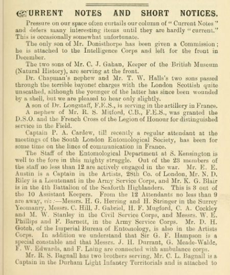 Entomologists Record XXVII No 1 January 1915 page 18