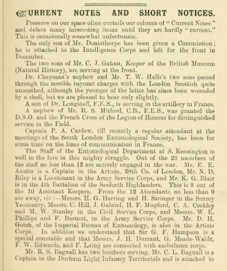 Entomologists Record XXVII No 1 January 1915 page 18