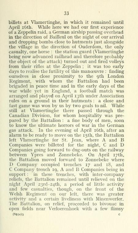 12th London Rangers history - Zonnebeke 1915