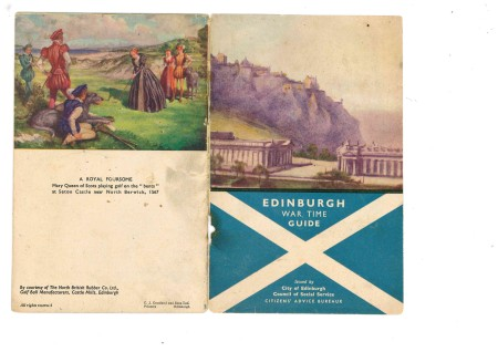 Edinburgh wartime guide c/o the World War Zoo Gardens collection, Newquay Zoo.