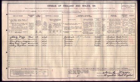1911 census for Gardeners at Bagshot park including Reginald James Paice