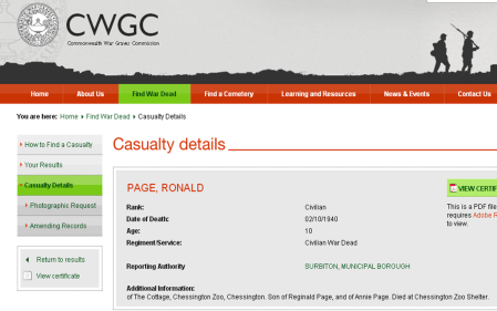 cwgc ronald page
