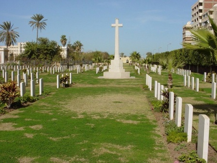 Port Said War Memorial Cemetery, Egypt where George Fallow and many Galliopli casualties are buried. (image: CWGC)