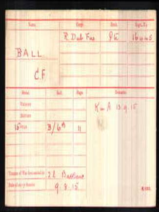 c f ball medal card
