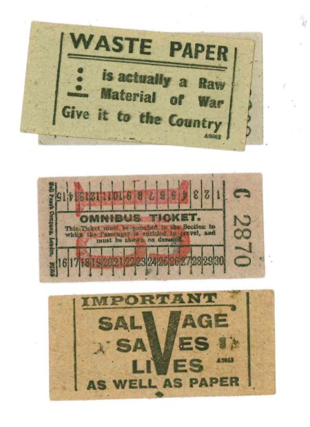 salvage bus ticket WW2