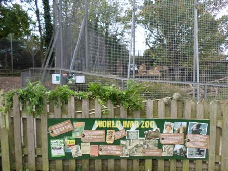 Herbs and garden sign Newquay Zoo 2015
