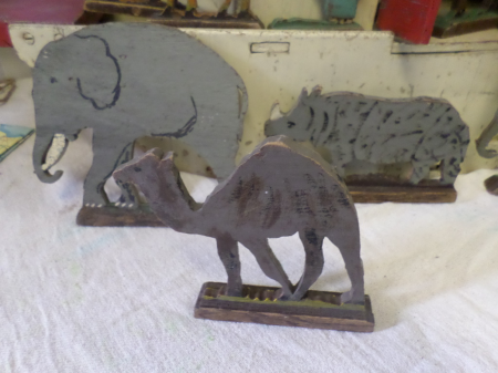 wartime wooden animals